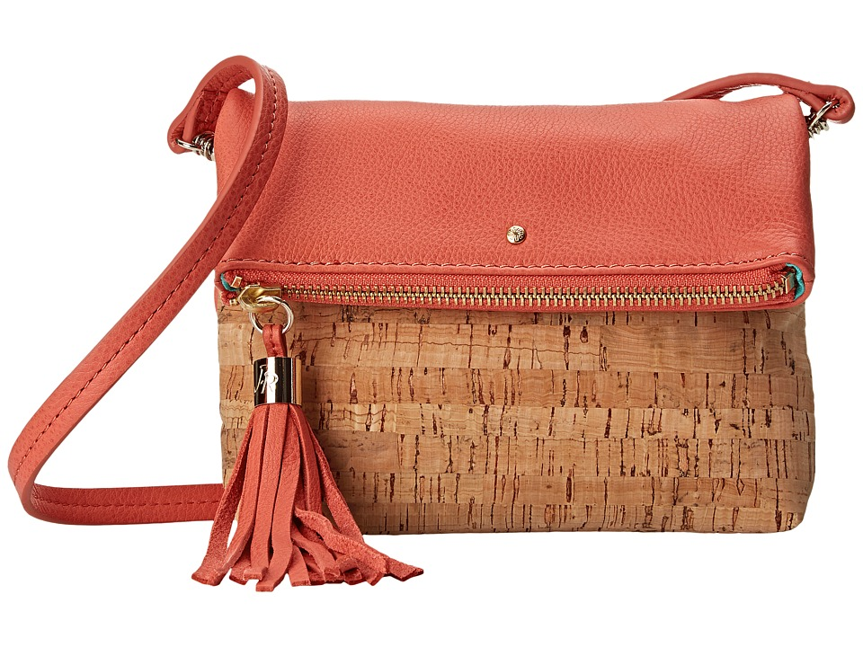 Jack Rogers - Gioia Mini (Cork/Fire Coral) Cross Body Handbags