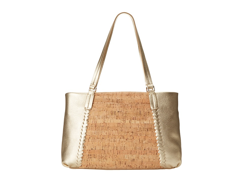 Jack Rogers - Alaina East West Tote (Cork/Gold) Tote Handbags