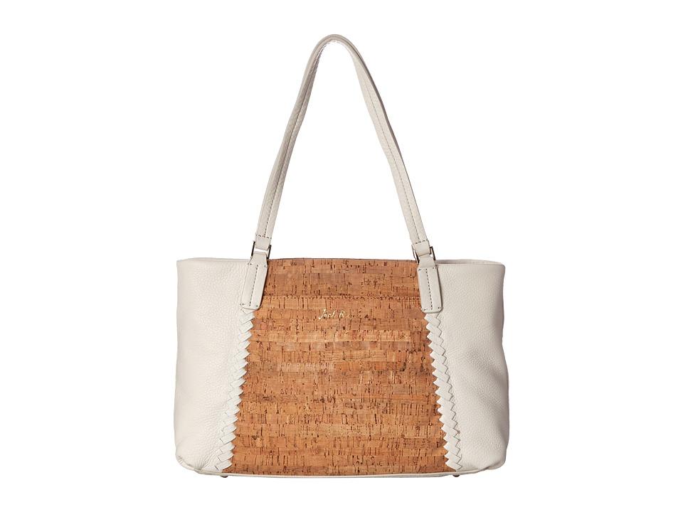 Jack Rogers - Alaina East West Tote (Cork/White) Tote Handbags