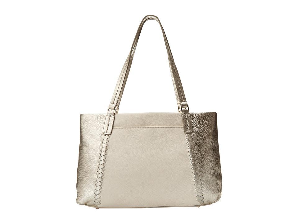 Jack Rogers - Alaina East West Tote (Platinum/White) Tote Handbags
