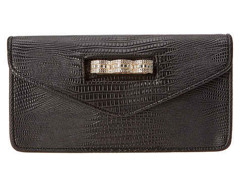 BCBGMAXAZRIA - Clutch with Pave Knuckleduster (Black) Clutch Handbags