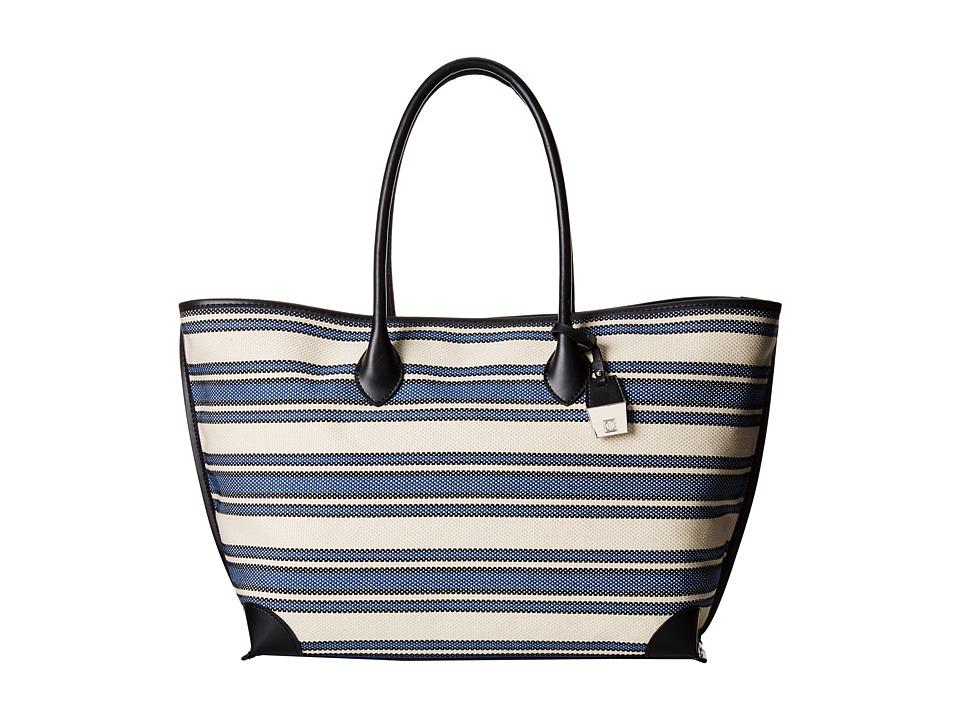 Ivanka Trump - Waikiki Shopper (Chalk Woven Stripe) Tote Handbags