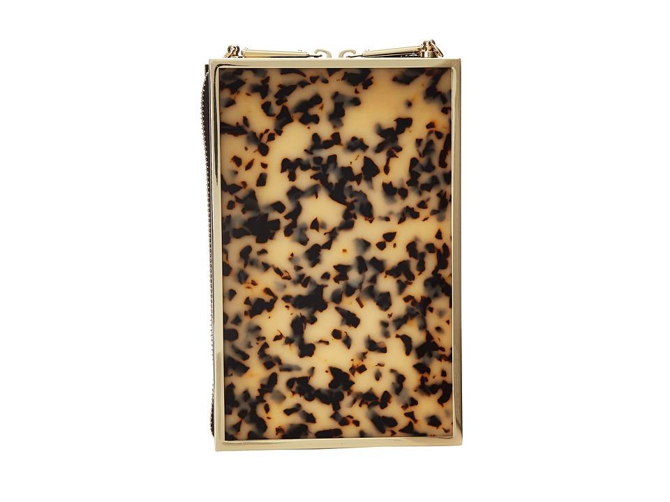 BCBGMAXAZRIA - Lucite Box Clutch (Tortoise) Clutch Handbags