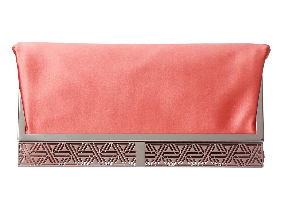 BCBGMAXAZRIA Milena Satin Foldover Clutch (Ambrosia) Clutch Handbags