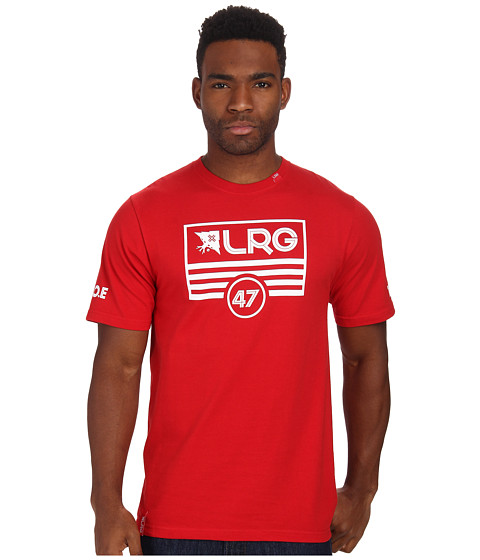 L-R-G - Lifted Flag Tee (Red) Men's T Shirt