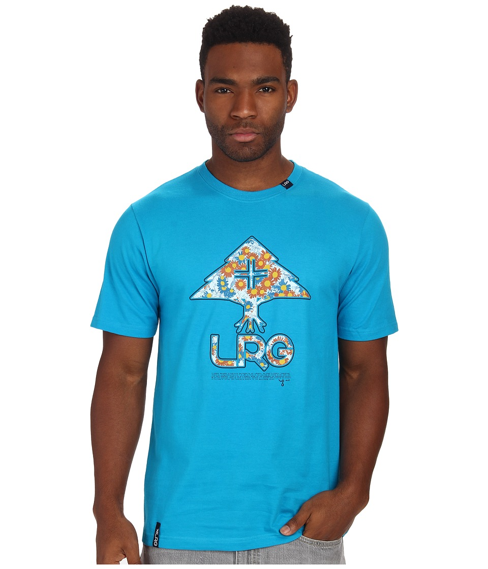 L-R-G - Floral Tree Fill Tee (Electric Blue) Men