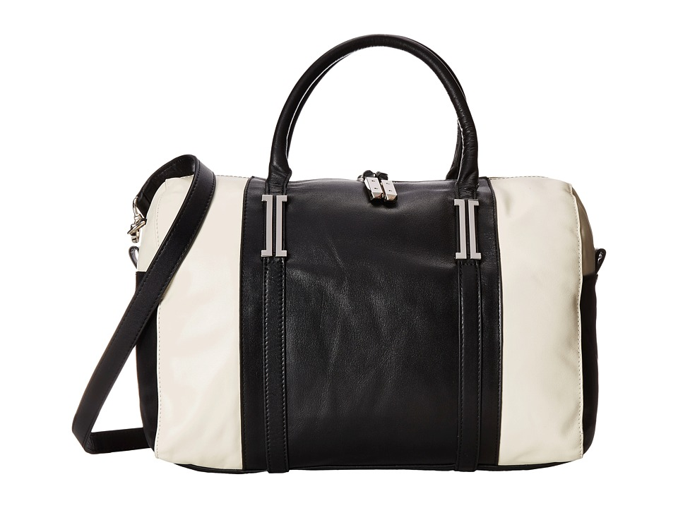 Ivanka Trump - Hudson Satchel (Black Color Block) Satchel Handbags
