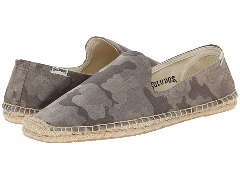 Soludos - Smoking Slipper Print (Grey) Men