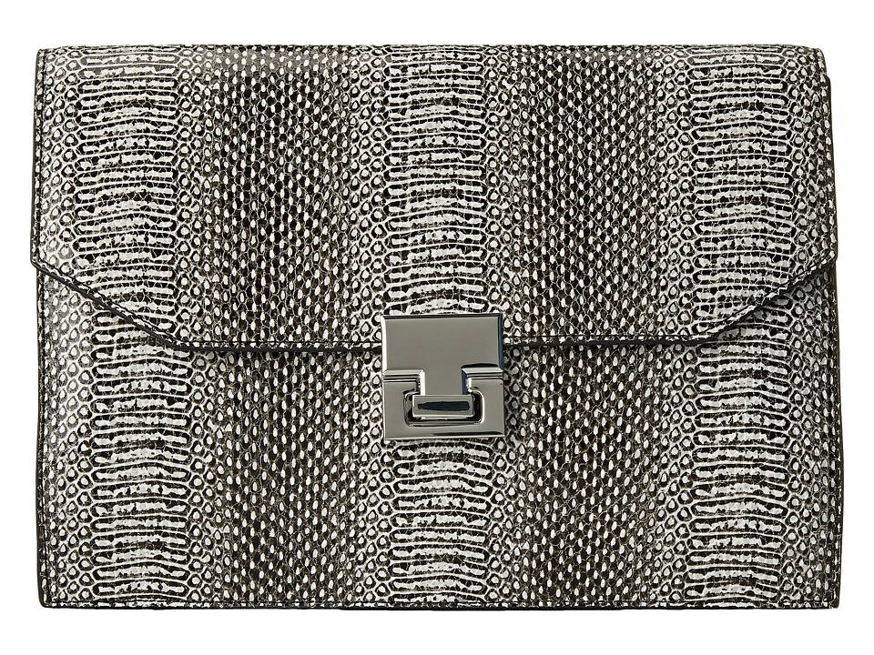 Ivanka Trump - Hopewell Clutch (Black Snake) Clutch Handbags