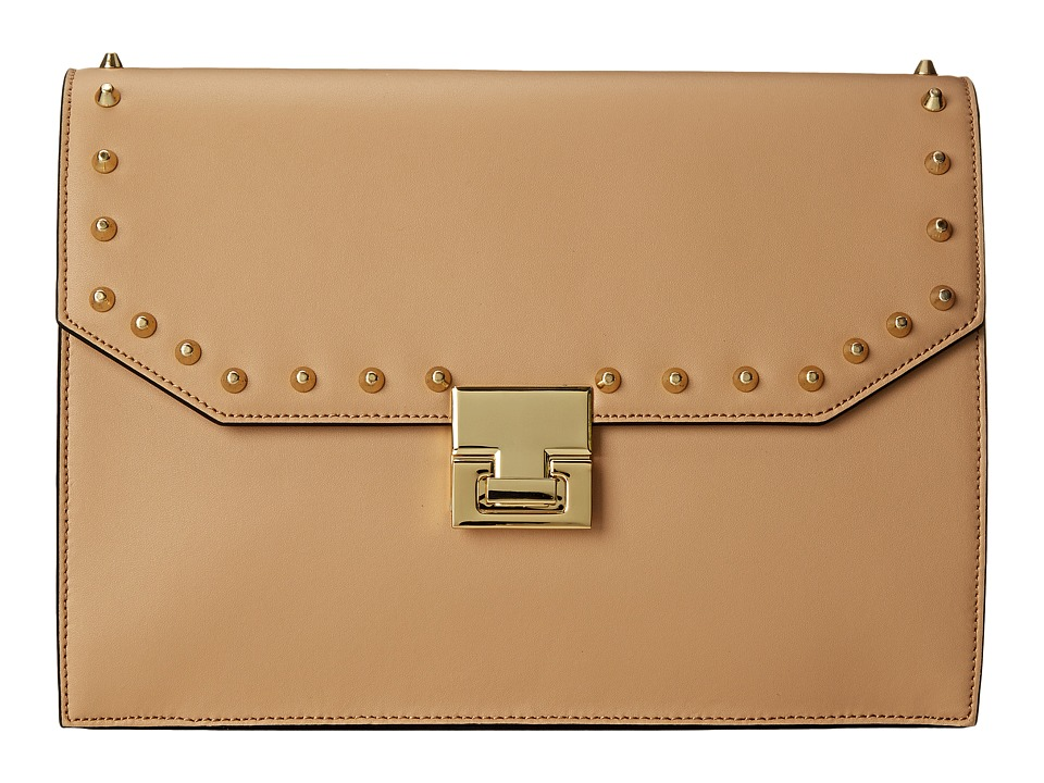 Ivanka Trump - Hopewell Clutch (Palomino Oil Tan Studded) Clutch Handbags