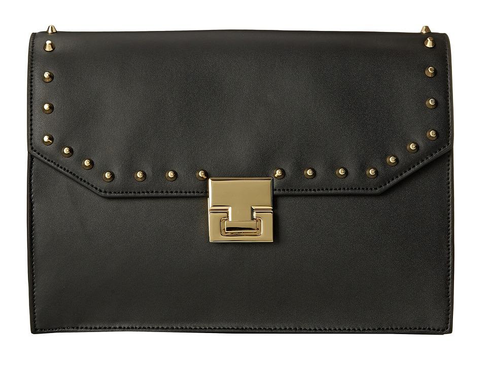 Ivanka Trump - Hopewell Clutch (Black Oil Tan Studded) Clutch Handbags