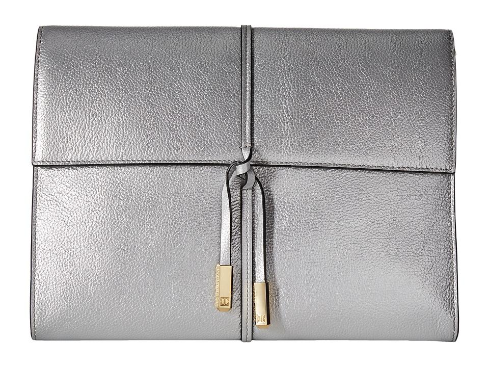 Ivanka Trump - Briarcliff Portfolio (Silver Metallic) Handbags