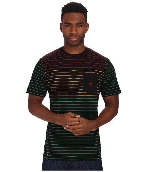 L-R-G - Stripe Short Sleeve Knit (Black) Men's Short Sleeve Knit