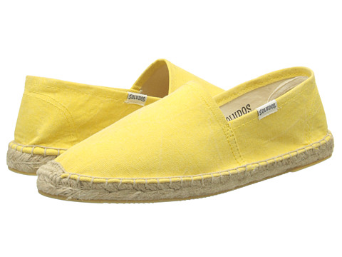 Soludos - Washed Canvas Dali (Daffodil Yellow) Women's Slip on Shoes