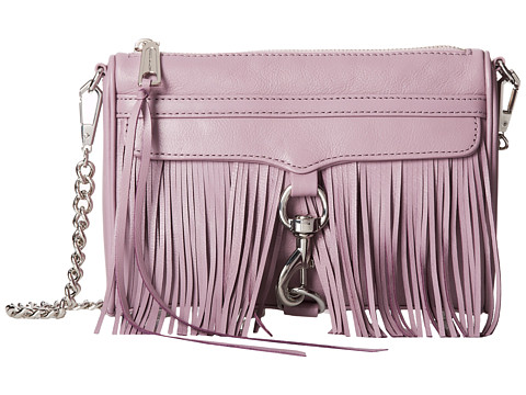 Rebecca Minkoff - Fringe Mini Mac (Plum Smoke) Handbags