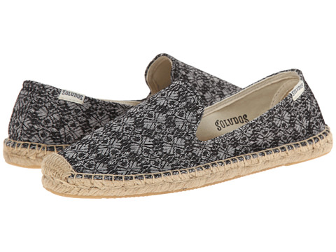 Soludos - Smoking Slipper Vintage Jacquard (Black) Women