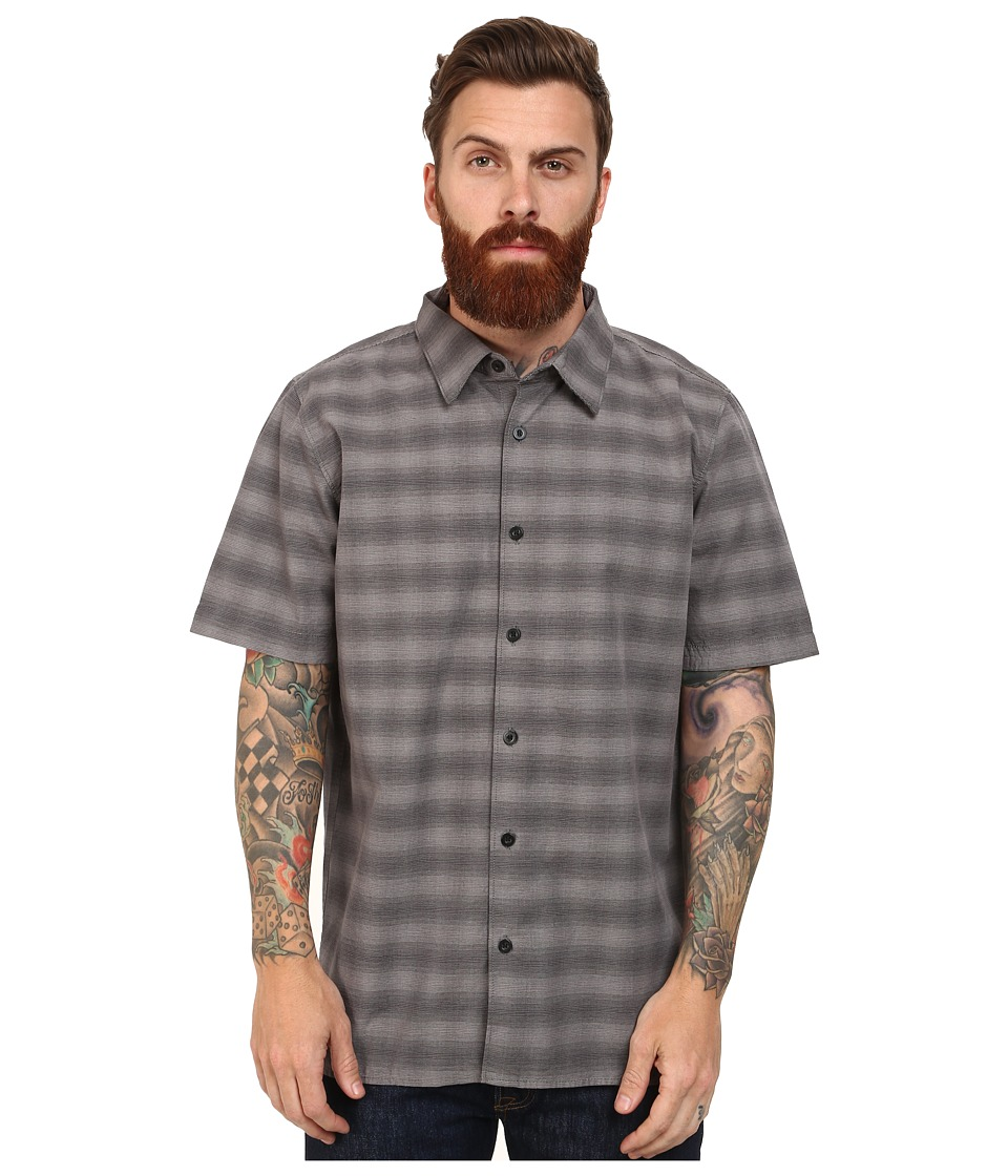 L-R-G - Crash Short Sleeve Woven (Black) Men's Clothing