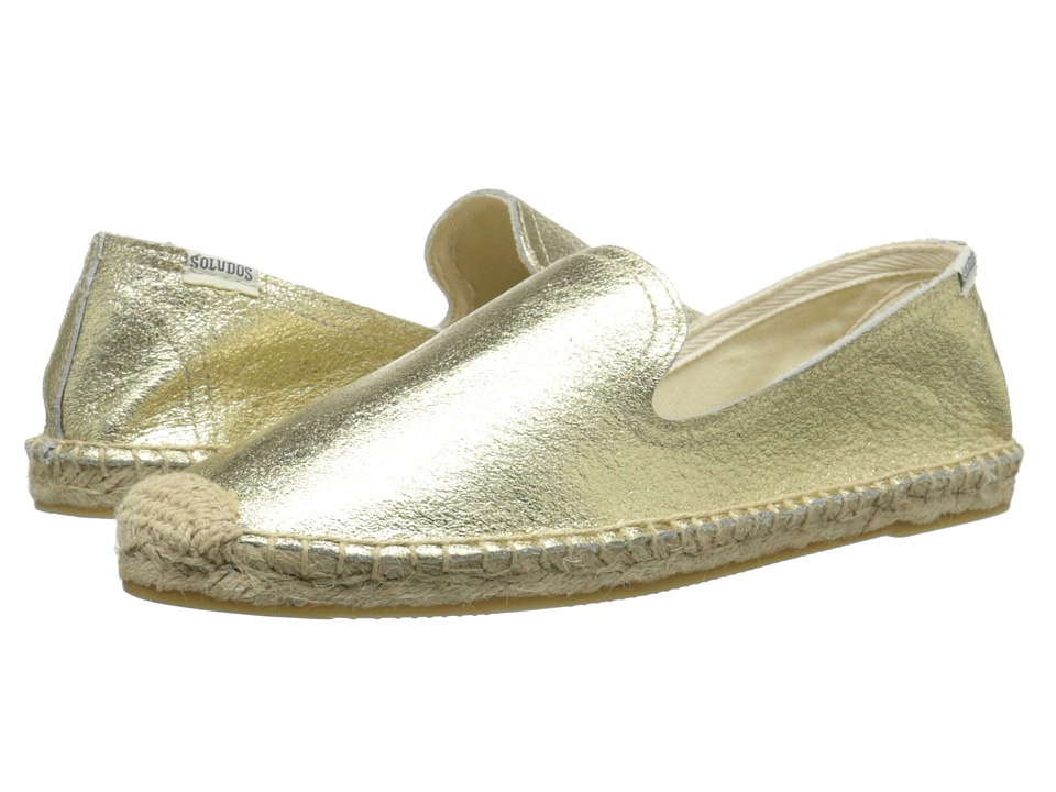 Soludos - Smoking Slipper Jupiter Leather (Gold) Women