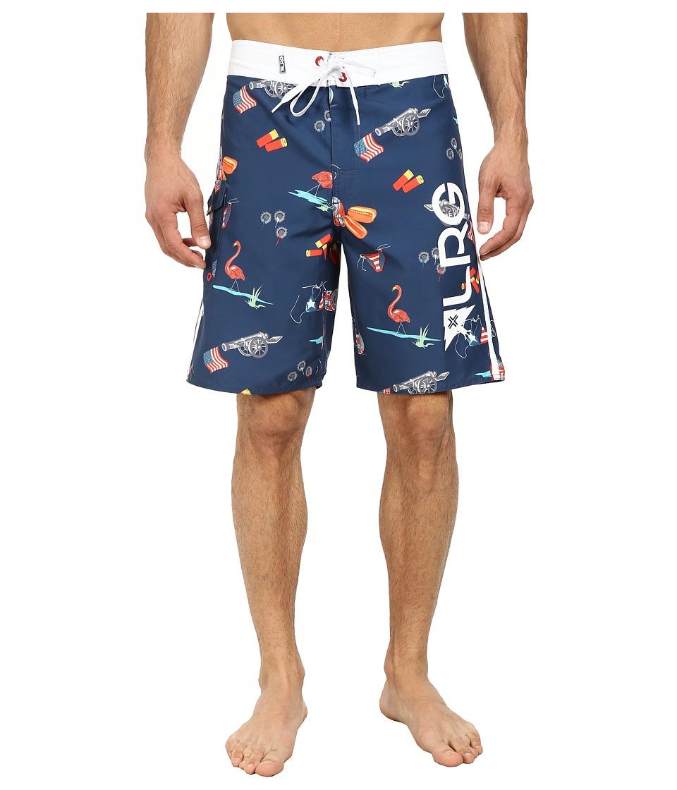 L-R-G - July 47th Boardshorts (Nautical Blue) Men's Swimwear