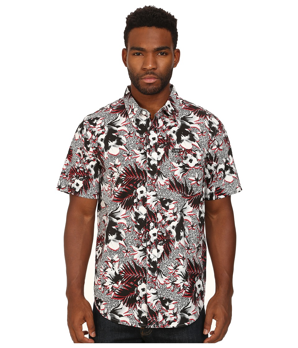 L-R-G - Kilauea Short Sleeve Woven (White) Men's Clothing