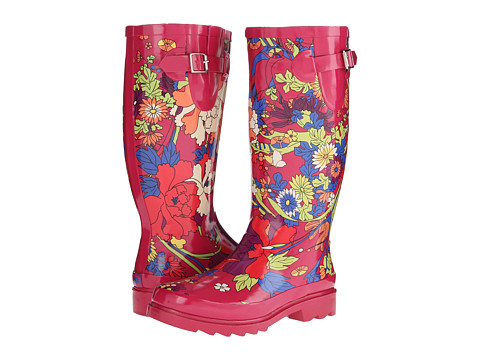 The Sak - Rhythm (Hot Pink Flower Power) Women's Rain Boots