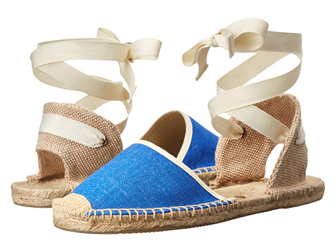Soludos - Knobby Linen Sandal (Vivid Blue) Women's Flat Shoes
