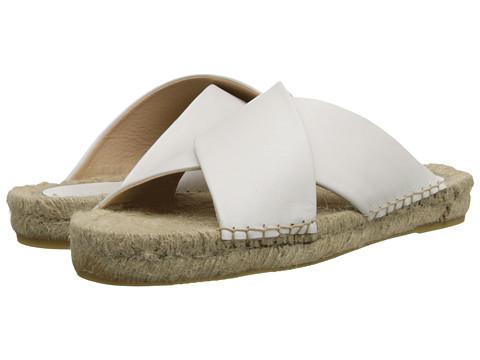 Soludos - Crisscross Platform Sandal (White) Women