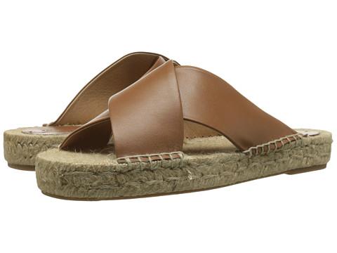 Soludos - Crisscross Platform Sandal (Tan) Women
