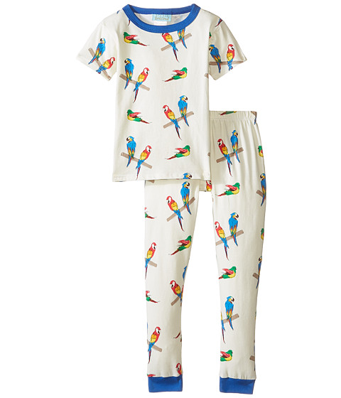 BedHead Kids - Short Sleeve Snug PJ (Toddler/Little Kids) (Parrot Jungle) Kid's Pajama Sets