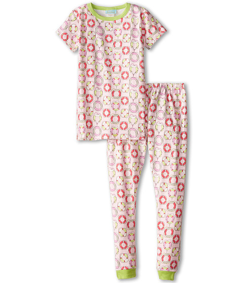BedHead Kids - Short Sleeve Snug PJ (Toddler/Little Kids) (Light Pink Lifesavers) Girl