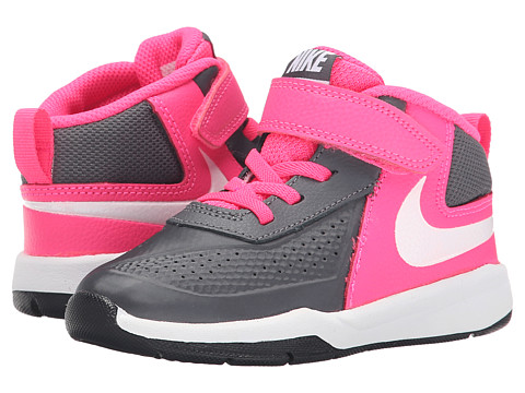Nike Kids - Team Hustle D 7 (Infant/Toddler) (Dark Grey/Hyper Pink/Black/White) Boys Shoes