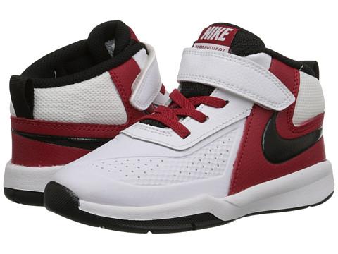 Nike Kids - Team Hustle D 7 (Infant/Toddler) (White/Gym Red/Black) Boys Shoes