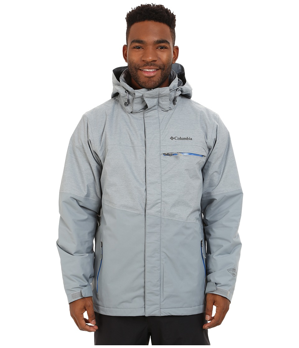 Columbia - Piste Beasttm Jacket (Tradewinds Grey/Hyper Blue) Men's Coat