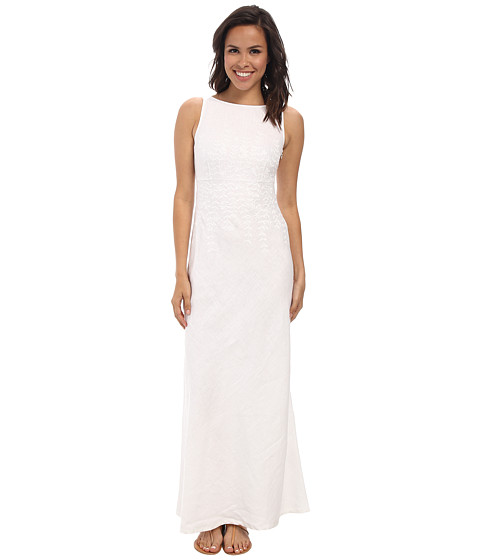 Tommy Bahama - Two Palms Embellished Maxi Dress (White) Women's Dress