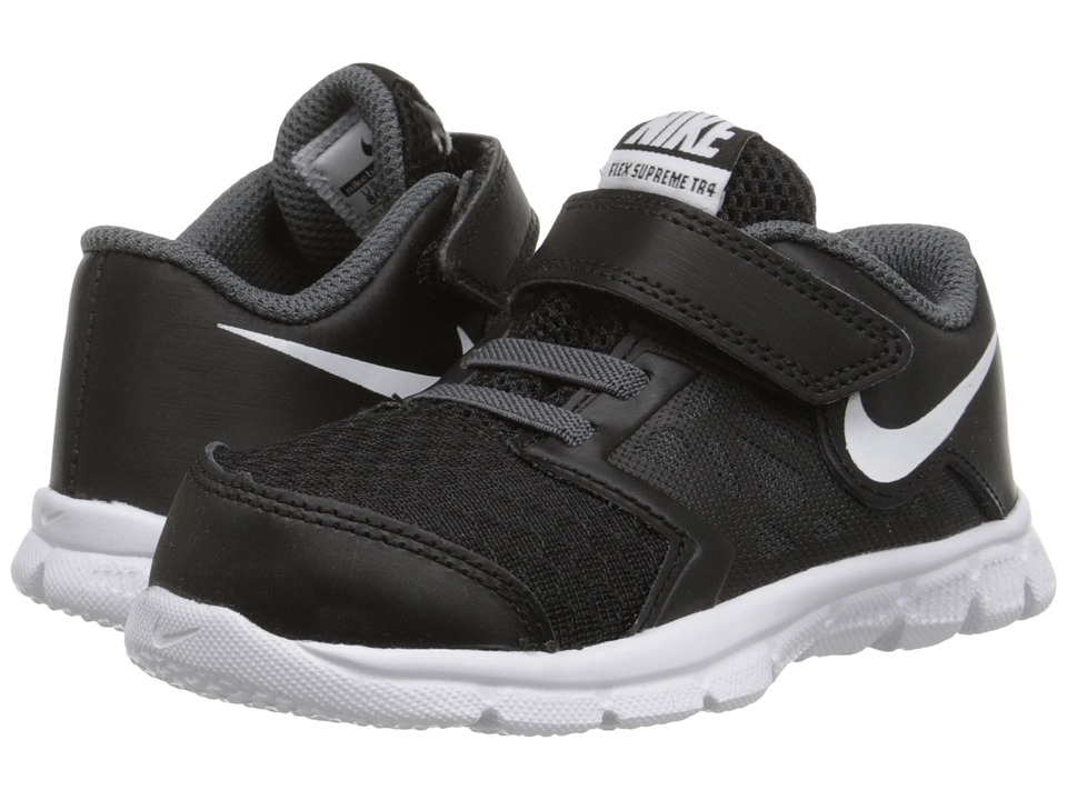Nike Kids - Flex Supreme TR 4 (Infant/Toddler) (Black/Dark Grey/White) Boys Shoes