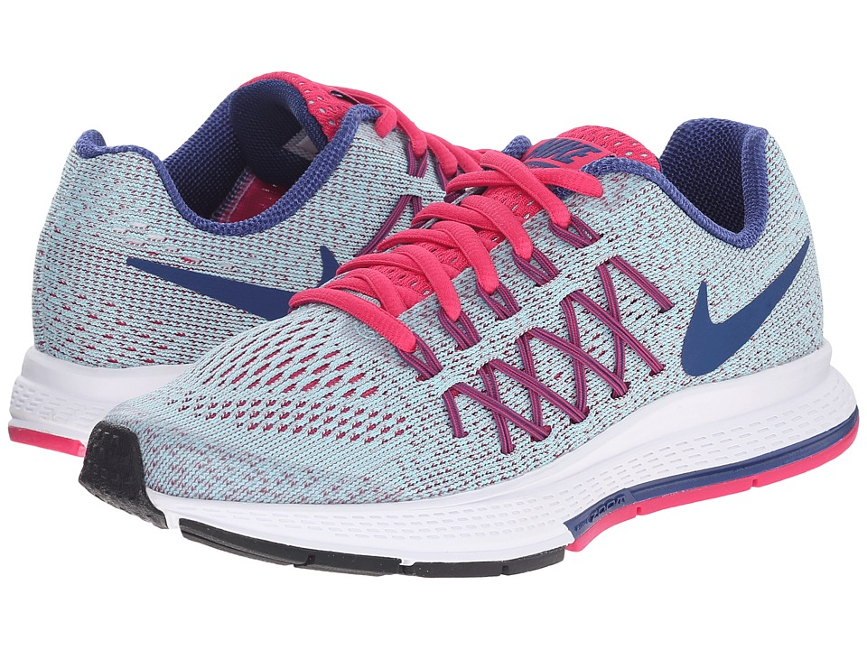 Nike Kids - Zoom Pegasus 32 (Little Kid/Big Kid) (Copa/Vivid Pink/White/Insignia Blue) Girls Shoes