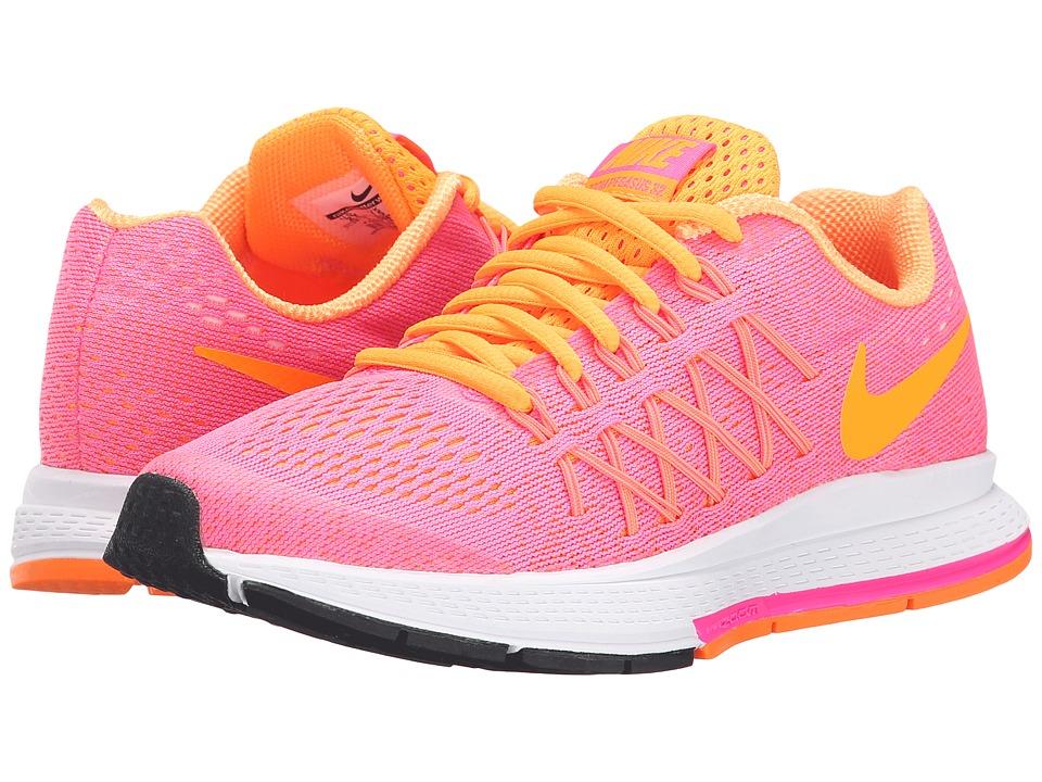 Nike Kids - Zoom Pegasus 32 (Little Kid/Big Kid) (Pink Pow/White/Bright Citrus) Girls Shoes