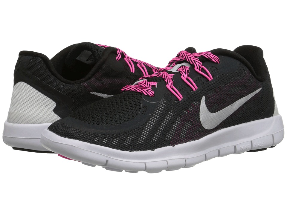 Nike Kids - Free 5 (Little Kid) (Black/Vivid Pink/Pink Pow/Metallic Silver) Girls Shoes