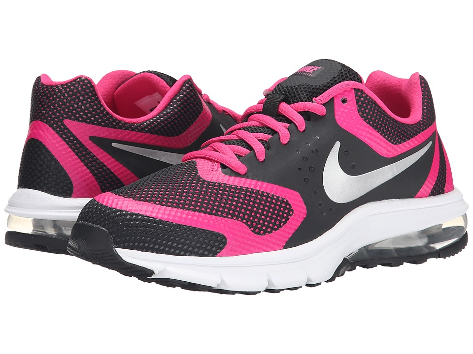 Nike Kids - Air Max Premiere Run (Big Kid) (Black/Vivid Pink/White/Metallic Silver) Girls Shoes