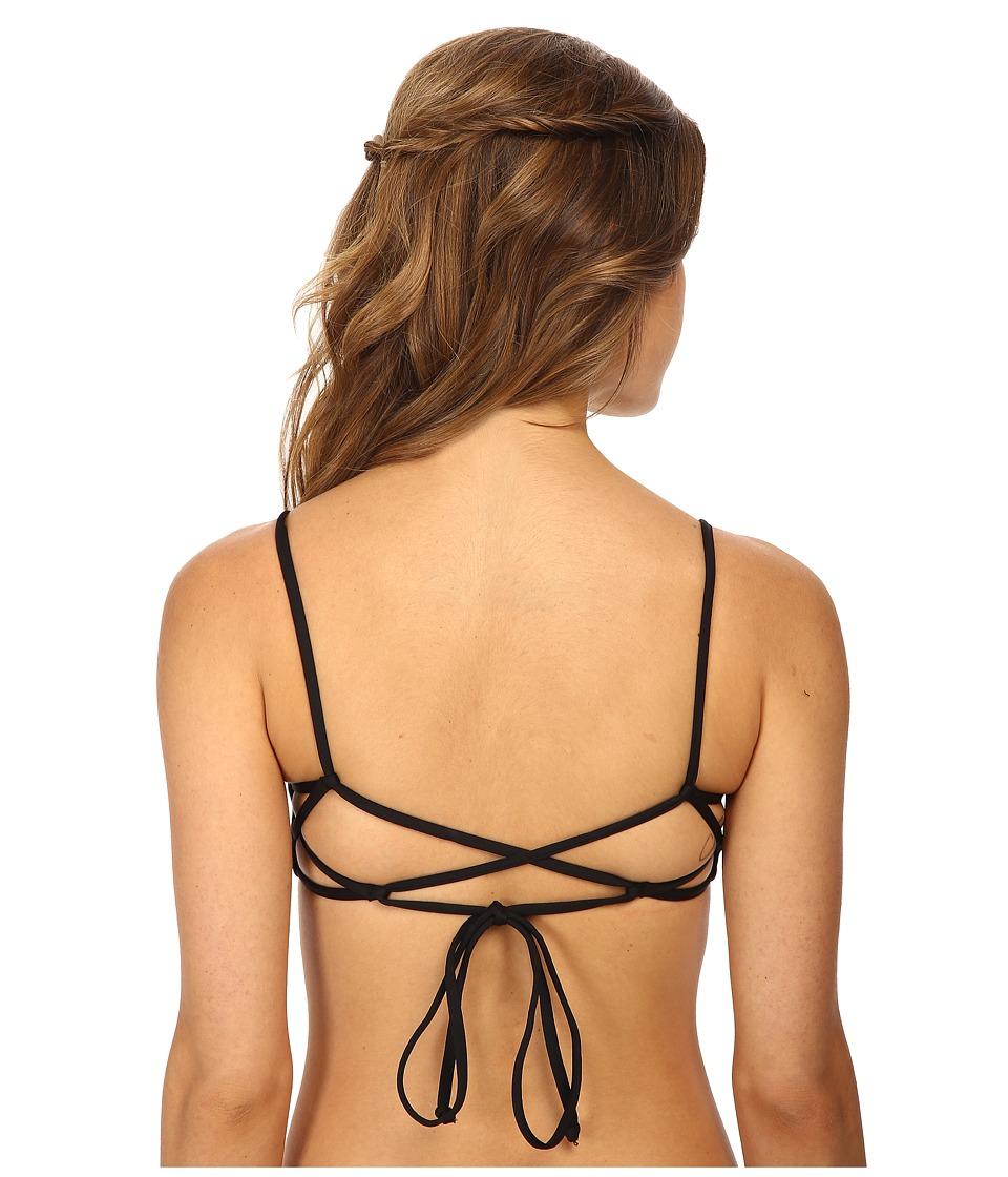 L*Space - Summer Solids Haley Top (Black) Women's Swimwear