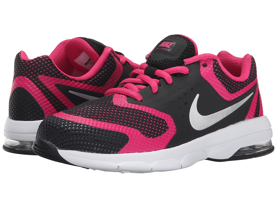 Nike Kids - Air Max Premiere Run (Little Kid) (Black/Vivid Pink/White/Metallic Silver) Girls Shoes