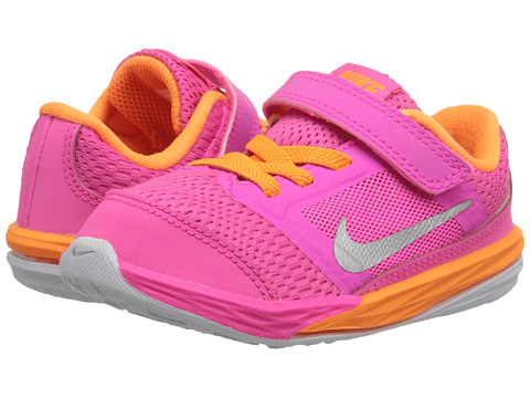 Nike Kids - Fusion (Infant/Toddler) (Pink Pow/Bright Citrus/White/Metallic Silver) Girls Shoes