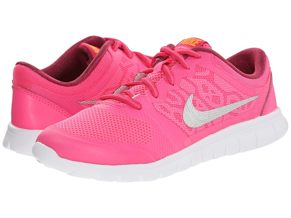 Nike Kids - Flex 2015 Run (Little Kid) (Pink Pow/Bright Citrus/Vivid Pink/Metallic Silver) Girls Shoes