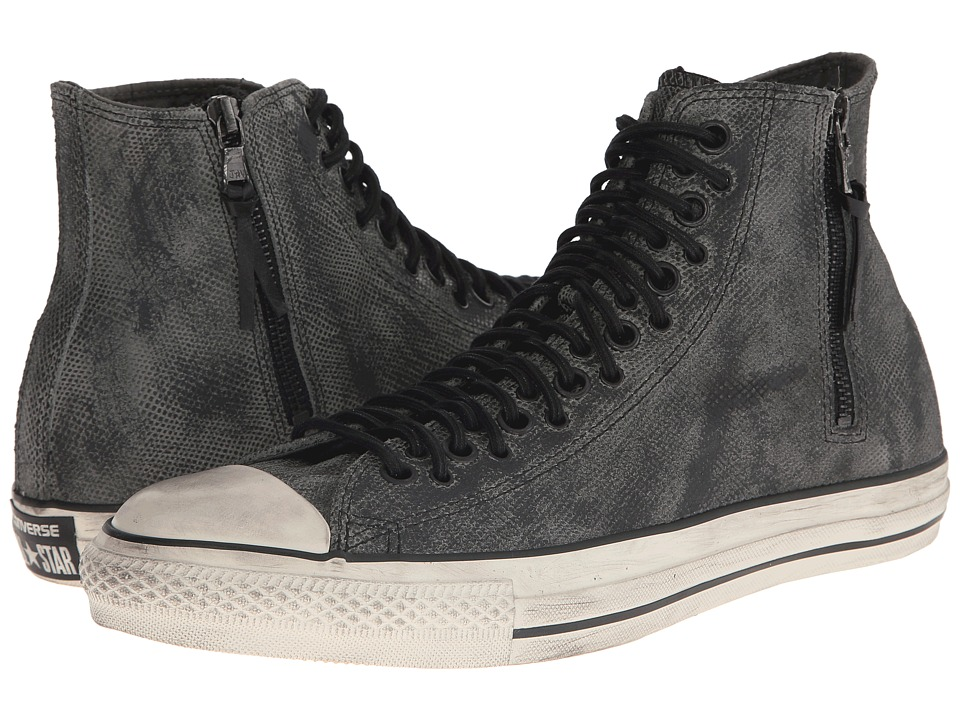 Converse by John Varvatos Chuck Taylor All Star Multi-Lace Zip Hi (Gunmetal/Turtledove) Lace up casual Shoes