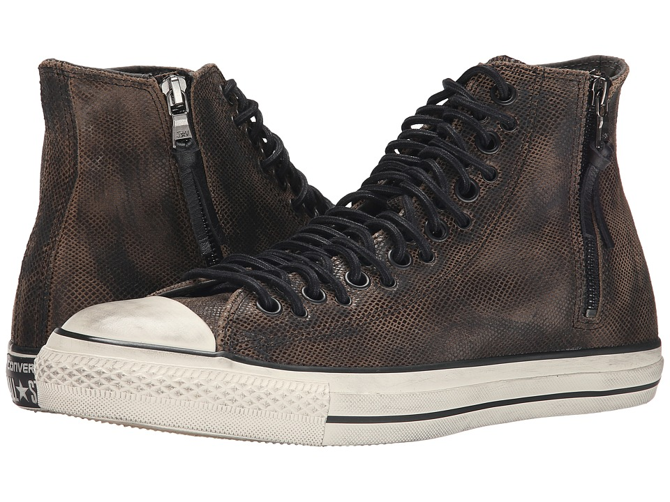 Converse by John Varvatos - Chuck Taylor All Star Multi-Lace Zip Hi (Dark Brown/Turtle Dove) Lace up casual Shoes