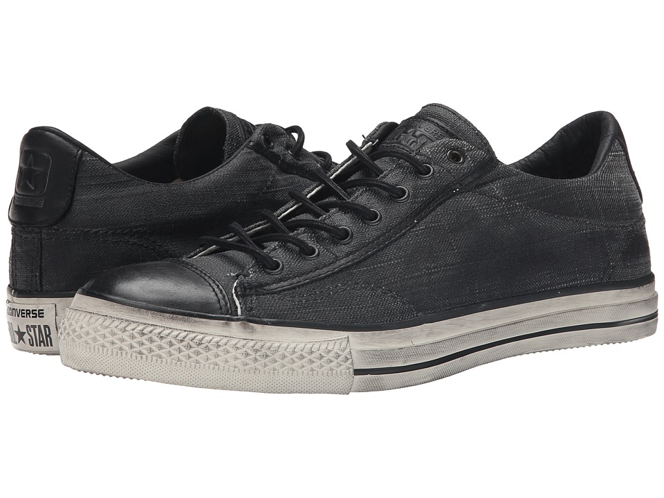Converse by John Varvatos - Chuck Taylor All Star Vintage Ox - Coated Canvas (Black) Shoes