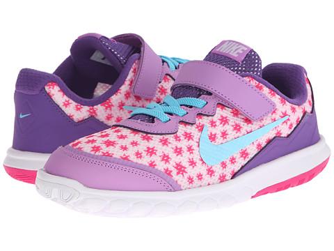 Nike Kids - Flex Experience 4 Print (Little Kid) (Prism Pink/Fuchsia Glow/Pink Foil/Tide Pool Blue) Girls Shoes