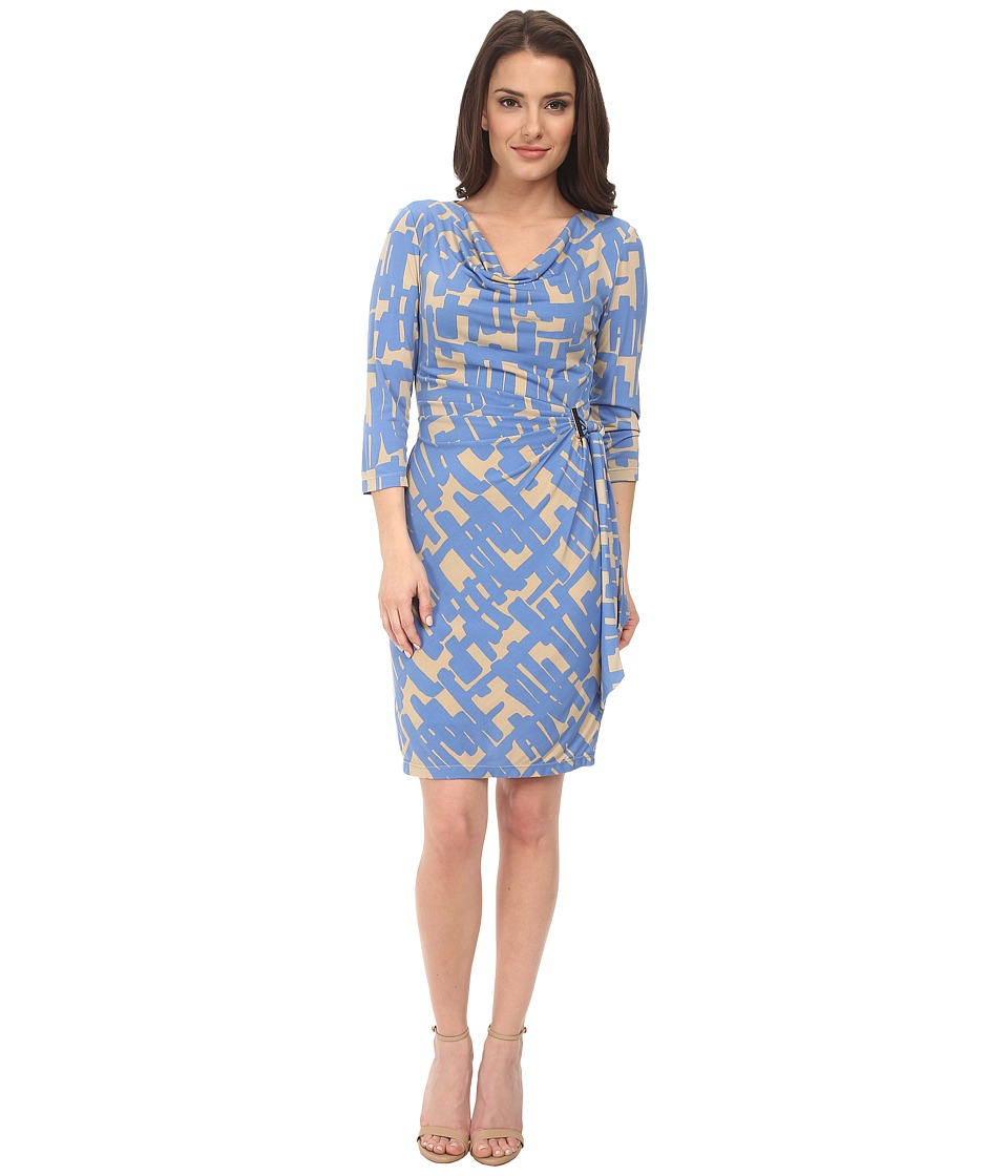 Tahari by ASL Petite - Petite Patrick Dress (French Blue/Khaki) Women's Dress