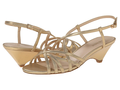 Nine West - Beseech (Gold Synthetic) Women's Shoes