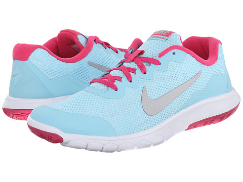 Nike Kids - Flex Experience 4 (Big Kid) (Copa/Vivid Pink/White/Metallic Silver) Girls Shoes